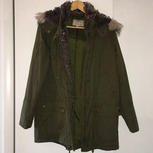 Hooded Banana Republic Army Green Parka